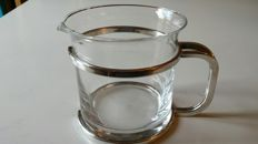 Glass Water Pitcher with Silver-Plated Handle