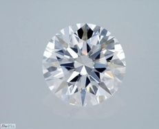 GIA Certificate: 1.59 carat D IF (Flawless) Round Brilliant Natural Diamond ** 3 X Excellent **
