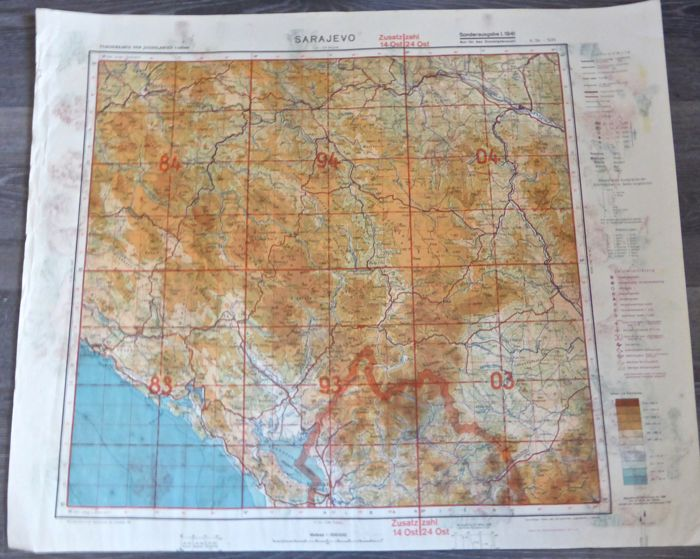 WW2. 3 German Luftwaffe maps of Eastern Europe, Russia, Europe ...