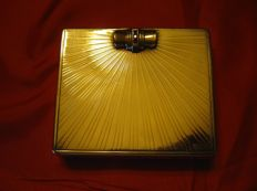 18k Gold and Vermeil Bejeweled Tiffany Compact/cigarette case-1949