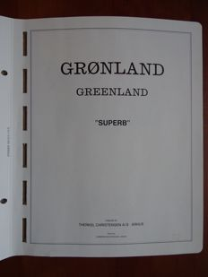 Greenland 1935/2000 - Collection on loos album sheets.