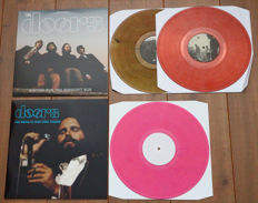 The Doors- lot of 2x The Doors live, both unofficial releases: Waiting For The Midnight Sun (Absolutely live in Stockholm 1968, on smokey transparent wax!) & The Music Is Your Only Friend (on pink wax!)