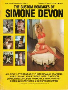"""BDSM; Lot with 10 issues from """"The Custom Bondages of Simone Devon"""" - 1987/1990"""