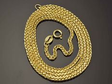 "18K Gold Necklace. Chain ""Wheat"" - 49.5 cm. Weight 3.18 g."