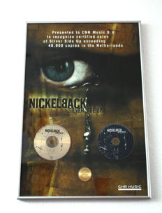 Music Award - Nickelback - Silver Side Up - 40.000 CD's in the Netherlands