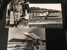 3 X photos Charles Lindbergh (1902-1974) spirit of St. Louis