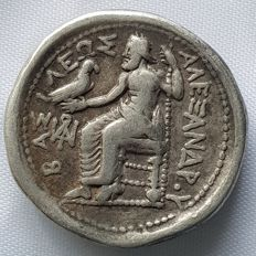Greek Antiquity - Alexander the Great (336-323 B. C.) AR Tetradrachm Lifetime or early posthumous issue, ca. 323-320 BC.