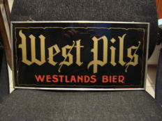 Glass advertising for West Pils - 1930 / 40