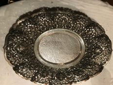 Silver Djokja dish, Dutch Indies, first half 20th century
