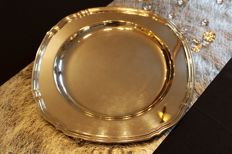 Large silver-plated plate - Christofle, Gallia Paris