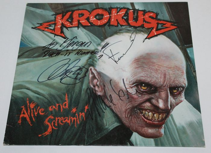 Krokus - Alive and Screamin' - Signed by Bandmembers