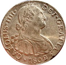 Spain Charles IV (1788-1808), 8 silver reales, mint of Mexico, 1802 Assayer: F. T.