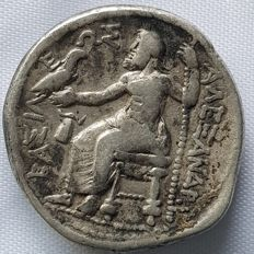 Greek Antiquity - Alexander the Great (336-323 B. C.) AR Tetradrachm Lifetime or early posthumous issue of Macedon, ca. 323-320 BC.
