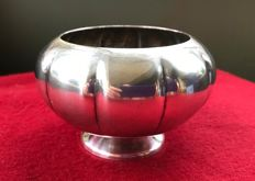 Small silver plated vase