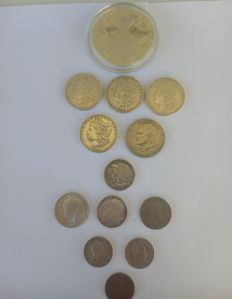 World - Lot of 13 coins - including silver
