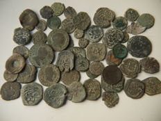 Spain - Catholic Kings to Carlos II - Maravedis, counter marks, ardites - many of them dated - better in hand than in the photos
