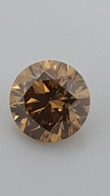 1.17 ct - Round Brilliant - Brown - VS1