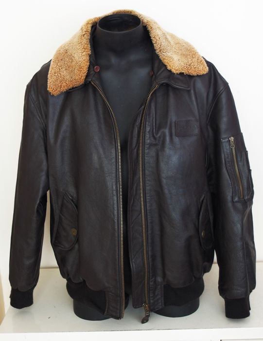 Camel Leren Bank.Camel Collection Leather Aviator Jacket Catawiki