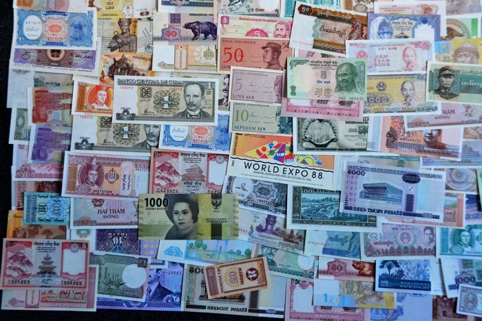 World - Collection of 200 world banknotes - Catawiki