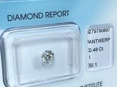 Diamond 0,48ct - Color I - Clarity SI1