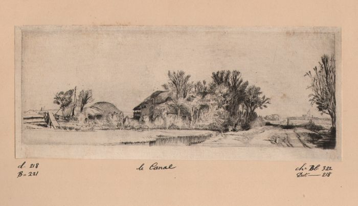 Rembrandt - The Canal - Amand Durand