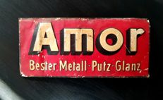"Amor metal sign - ""Putz - Glanz"""