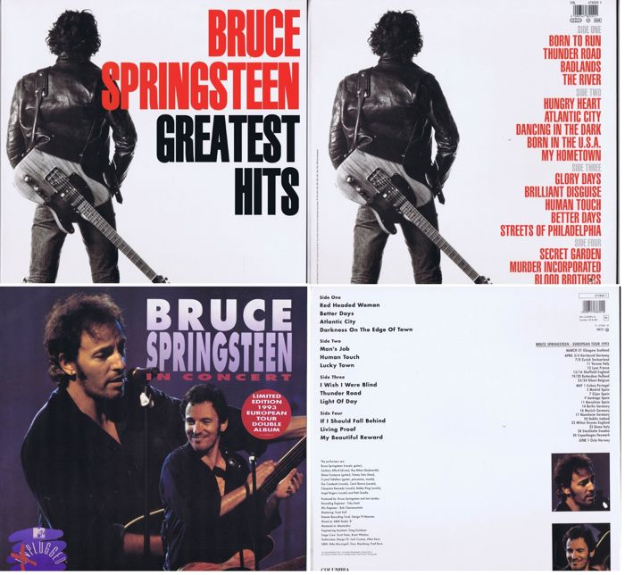 Bruce Springsteen Lot Of 2 Rare Double Lps 1 Greatest