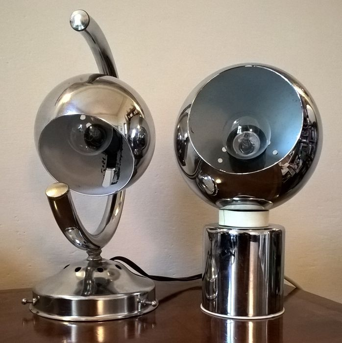 Reggiani - two Space Age Eyeball table lamps