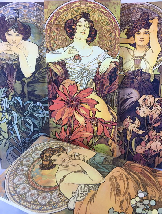 The Precious Stones by Alphonse Mucha - Textil, canvas - 2001, Italy