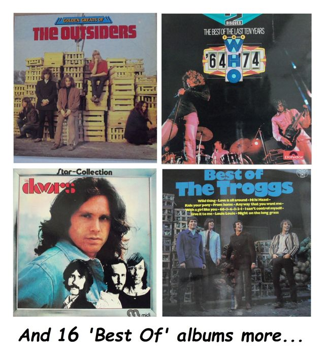 "20  LP-Albums: ""The Best Of"" 16 different groups or performers. 269 great songs total."