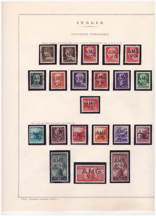 Italy 1943/1949 - Selection of stamps from Trieste A, Interrupted Occupation in Sicily and Polish Corps