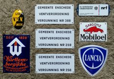 8 Enamel Signs