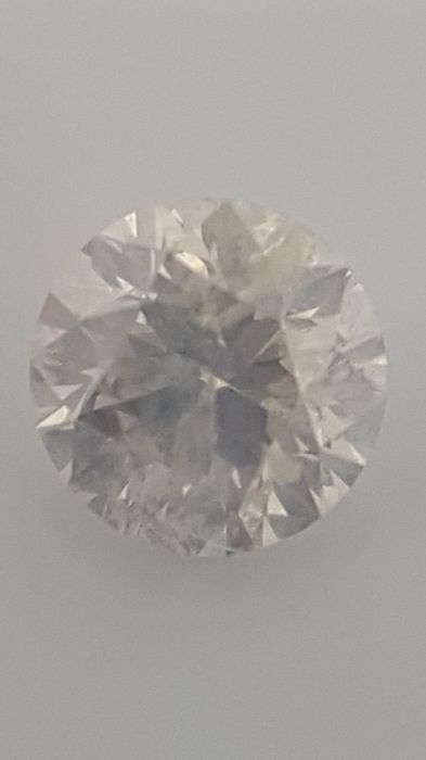 1.06 ct - Round Brilliant - White F / SI2 - No minimum price