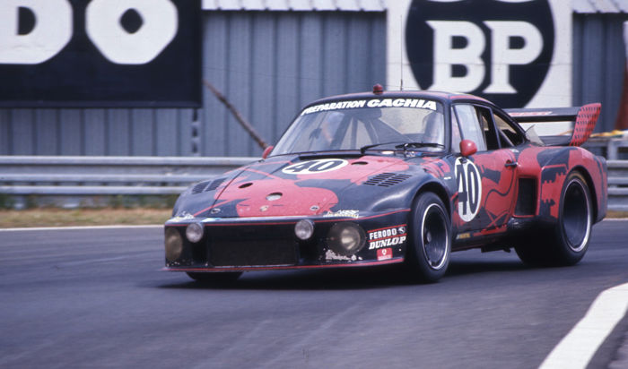 1977  Le Mans 24 Hour Porsche 935 Peter Gregg Colour Photograph