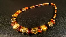 100% Genuine mix colour natural Baltic Amber necklace,  15 grams