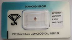 Natural Fancy Light Pink Diamond 0.18 ct  with IGI cert
