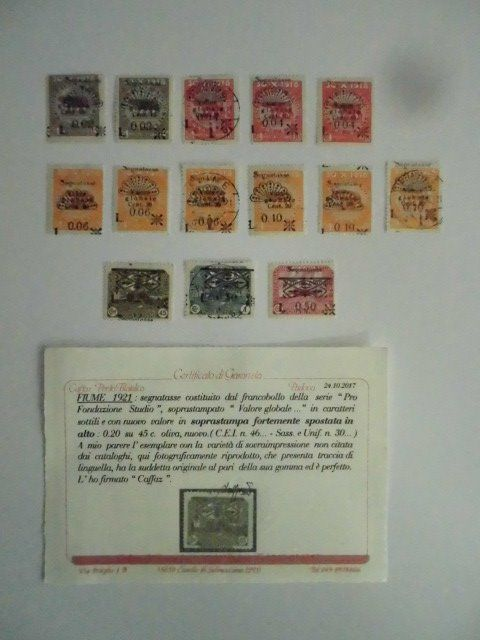 Fiume 1921 - Selection of values from the period