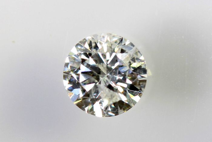 Diamant - 0.26  ct - E ,  I1 -  Excellent Cut -  No Reserve Price