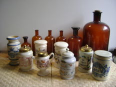 Apothecary jars and bottles
