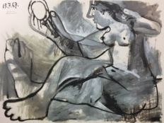Pablo Picasso (after) - Nude Model with Mirror