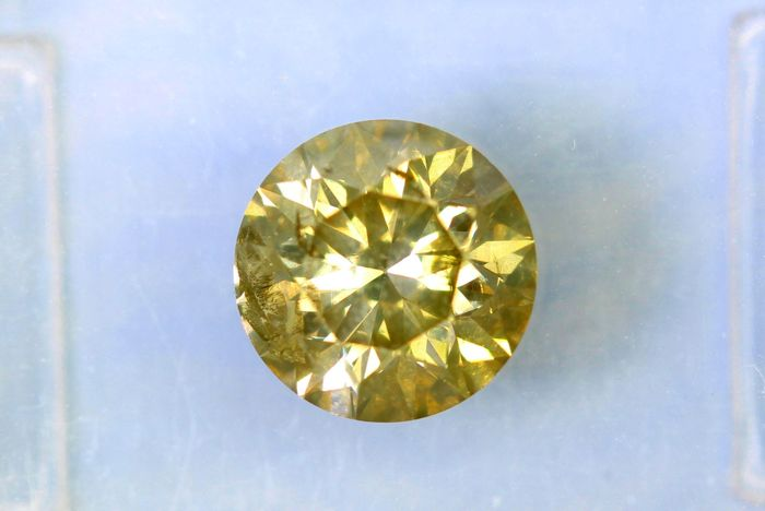 Fancy INTENSE Greenish Yellow -  1.04 ct - * NO RESERVE PRICE *