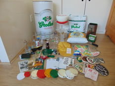 Large Grolsch collection - including Grolsch flip-top cap - cap lamp - period 1975-2015