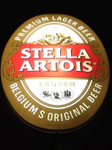 STELLA ARTOIS, Belgium's Original Beer __ luminous advertisement __ Circa 1990 Belgium