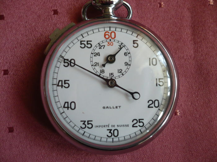 Gallet - Unisex flyback stopwatch - around the 1940s
