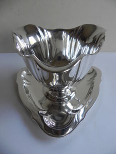 Silver sauce bowl, import in Sweden