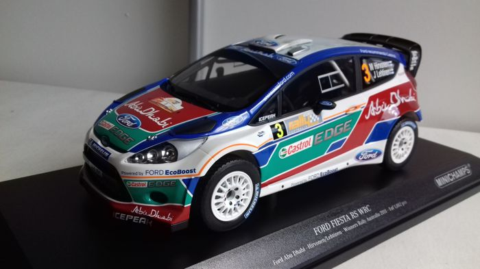 Minichamps - Scale 1/18 - Ford Fiesta WRC #3 Hirvonen/Lethinen Winner Australia Rally 2011  - Limited 1002 pieces