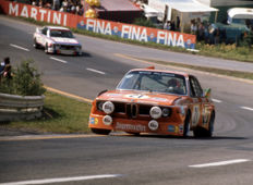 1973 Spa Circuit 24 hour   BMW 3 litre CSL Brun and Amon and Stuck  Colour Photograph