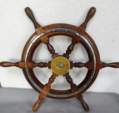 Old mahogany steering wheel