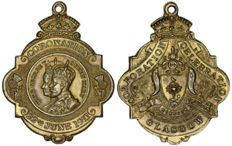 Great Britain - 'Corporation - Celebration' medal for the coronation of George V on 22 June 1911 in Glasgow - Bronze