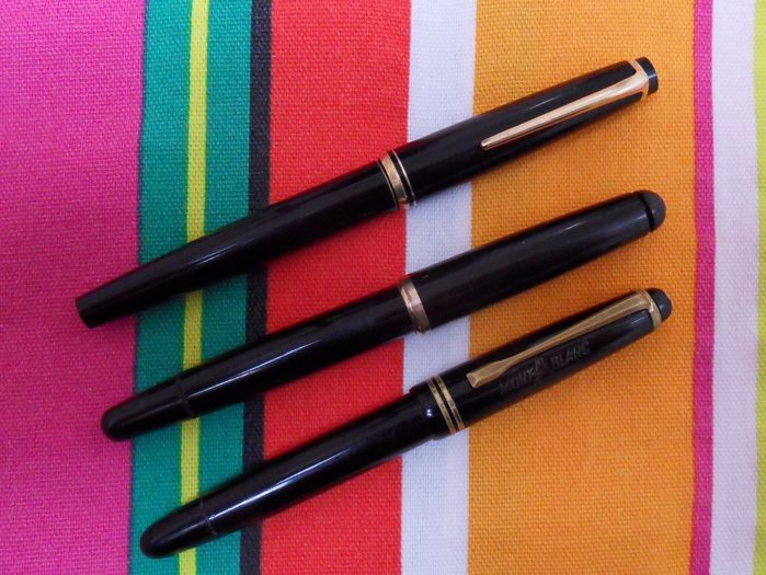 Three MontBlanc Fountain Pens Repair Or Spares